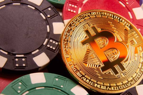 Gaming chips and bitcoins